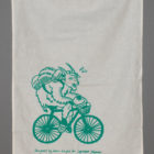 Cycling Goat Tea Towel